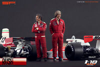 1:18 Niki Lauda & James Hunt VERY RARE!!! figurines NO CARS !! for RUSH cars