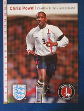 Chris POWELL Poster-Charlton Athletic & Angleterre - 2001/02