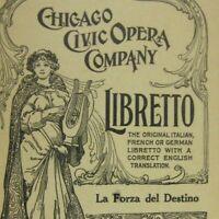 La Forza del Destino Libretto Chicago Opera Company Verdi Copyright 1926 Destiny