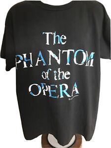 Vintage Phantom of the Opera New York Black T Shirt Adult Size XL Single Stitch