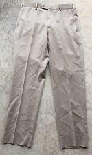 Luigi Bianchi Mantova Vitale Barberis Canonico Super 110s Wool Khaki Size 31x28