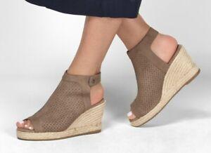 NEW Skechers Women's Indigo Sky Love Dust Wedge Sandal Size 9M Taupe Memory Foam
