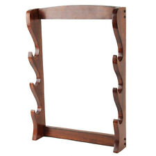 Japanese Walnut Wood Wall Mount Sword Stand Holder Home Decor