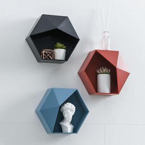 Hexagon Shaped Organizer Shelf Floating Shelf Sundry Hanging Shelves Home Decor