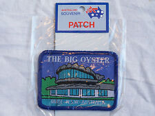 VINTAGE TAREE THE BIG OYSTER EMBROIDERED PATCH SOUVENIR WOVEN CLOTH SEW BADGE