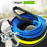 8 Ton 5m Towing Rope Tow Cable Hook Pull Strap Hooks Car Van SUV Ute Free Gloves