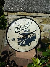 German Volkswagen VW Bus Samba WALL CLOCK Original Ride 1950 Genuine & Licensed