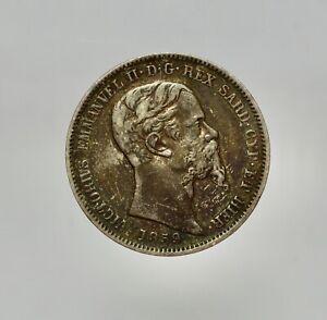 VITTORIO EMANUELE II  1849-1861 -AG/ 1 LIRA 1859 MILANO BELLA PATINA   RARA
