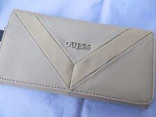 NWT GUESS FIRESIDE CHEVRON  Wallet Purse Handbag Bag Beige
