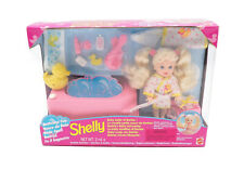 Mattel 1995 Shelly Baby Sister of Barbie Bathtime Fun Playset Nrfb