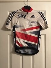 British Cycling Team Issue GB Sky Adidas TT Cycling Track Jersey Top Small