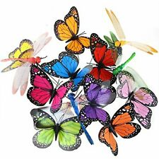 Austor 26 Pcs Dragonfly Butterfly Stakes Garden Ornaments & Patio Decor Party