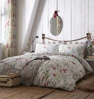 Celine Multi Pretty Floral Design Duvet Cover Sets And Accessories,Teal,Pink