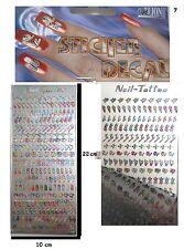 1x CREATIVE DECORATIVE VINYL RAINBOW STICKERS NAIL STICKERS 1 SHEET 250 pcs.Nr.7