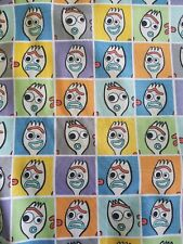 Forky Faces Pixar Toy Story 4 Disney Fabric 9