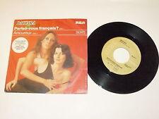 """BACCARA """"PARLEZ-VOUS FRANCAIS? """" disco 45 giri RCA Italy 1978"""