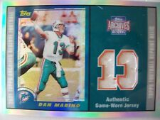 2001 Topps Archives DAN MARINO GAME JERSEY, DOLPHINS !!!  BOX # 6