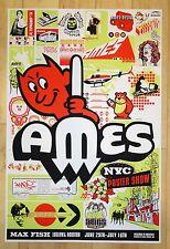 2001 Ames Art Show - Nyc Silkscreen Art Print S/N by Ames