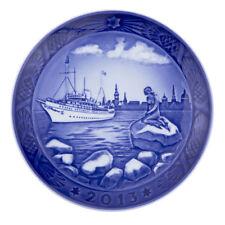 """2013 Royal Copenhagen Christmas Plate """" Little Mermaid In Copenhagen Harbor """""""