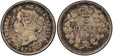 PCGS AU50  1896 Canada Five Cents