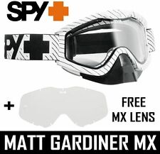 Spy Optics Tucker Hibbert Fouet Snowcross double ventilé lentilles blanc + MX