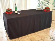 Husse bodenlang für Bankett -Tisch 185x76x71 cm SCHWARZ