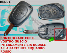 Key Case Shell Cover Renault Megane Trafic 2 Buttons Vauxhall Opel Vivaro