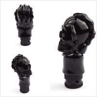 Car Shift Knob Kit Black Skull Head Stying Auto Accessories Shifter Lever Metal
