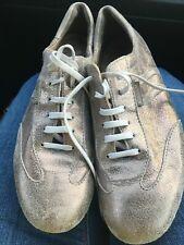 Mephisto Air Relax Women's Sneaker Silver Metallic Leather Lace Up Shoe US 7.5