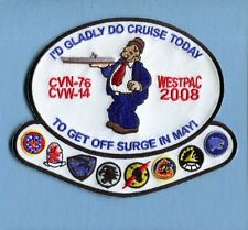 CVN-76 USS RONALD REAGAN CVW-14 WESTPAC 2008 US Navy Squadron Ship Cruise Patch