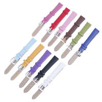 12mm plain weave PU leather strap watchband new candy colors watch straps