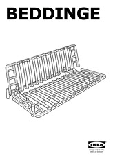 6x IKEA BEDDINGE SOFA BED WOODEN SLAT HOLDERS / MOUNTS, PLASTIC, GRAY