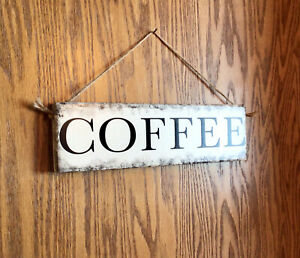 Handmade in the USA! Primitive Country Solid Wood Hanging Farmhouse COFFEE Sign