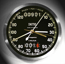 BSA B31, Smiths Style Classic Retro Speedometer Wall Clock 1950's Style.