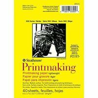 "Pro-Art Strathmore Printmaking Paper Pad 5 x 7-inch, 40 Sheets, White, 5""x7"""