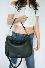 Kate Spade Mulberry Street Vivian Medium Hobo Shoulder Pebbled Leather Bag Black