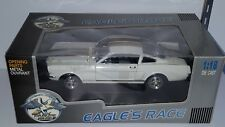 1/18 EAGLE'S RACE 1965 FORD MUSTANG 350H HERTZ WHITE with GOLD STRIPES gd