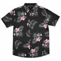 Neff x Disney Men's Mickey Tropical Poolsider Short Sleeve Buttondown Shirt B...