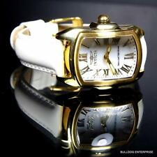 Womens Invicta Baby Lupah Set White MOP Gold Tone With 3 Leather Bands Watch New