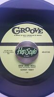 SONNY TERRY 45 RE-RIDE & ROLL/HOOTIN' BLUES #2 -TOP GROOVE BLUES BOPPERS 2 SIDES