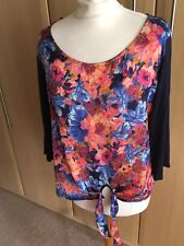 Lovely EAST multi patterned deisgn top size medium petite
