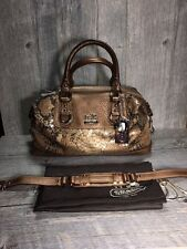 NWT Coach Authentic Python Snake Sequin Sabrina Handbag MSRP $598 Retired