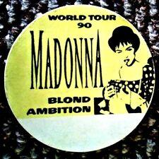 MADONNA - Blond Ambition - 1990 World Tour - Cloth Backstage (Back Stage) Pass