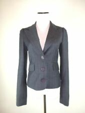 JUICY COUTURE GRAY PINSTRIPE BLAZER JACKET SIZE L