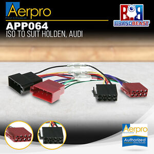 Aerpro APP064 Primary ISO Harness Suit Holden/Audi/Fiat/Great Wall/Hyundai/Kia/S