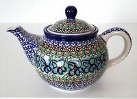 Unikat Geschenk Teekanne 750 ml. aus Bunzlauer Keramik Handarbeit nk3212