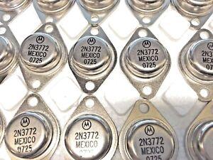 2 Pieces | 2N3772 NPN Planar Silicon Transistor New Original MOTOROLA