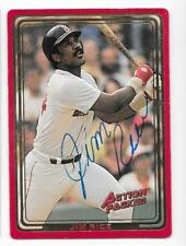 JIM RICE 1993 ACTION PACKED AUTOGRAPHED SIGNED # 166 RED SOX HOF