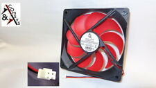 PC Netzteil Lüfter 12cm Fan 120x120x25mm DC 12V s. leise Kühler 120mm Black/Rot