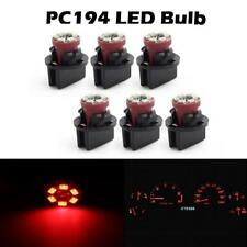 6) PC168 Instrument Panel Cluster Led Light Bulb Red Dash for GM Chevy